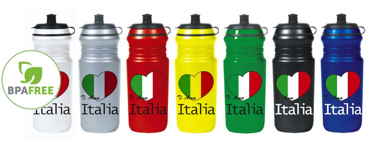 Water bottle 750 ml with pressure cap + valve